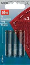 Prym Hand Sewing needles, sharps, with gold eye, size No.3-No.11