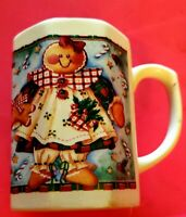 Gingerbread Girl Christmas Mug Cup Hexagonal
