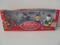 "Rudolph the Red Nosed Reindeer 2"" Figure Lot Yukon Cornelius Hermie Sam Snowman"