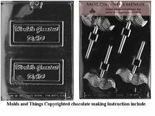 Mustache Lolly Chocolate Candy Mold, World's Greatest Dad chocolate candy mold