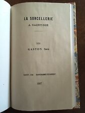 TRES RARE - La SORCELLERIE a St DIE - 1887 - Gaston SAVE