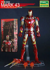 6' MARVEL UNIVERSE IRON MAN MARK 43 1/12TH COLLECTIBLE ACTION FIGURES CRAZY TOYS