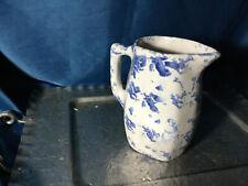 Vintage BYBEE Kentucky Pottery Spongeware JUG pitcher w/ Handle