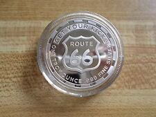 1 Troy Oz .999 Silver Bullion Art Coin Round - Route 66 Get Your Kicks - NR