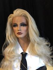 OUTSTANDING, HUMAN HAIR BLEND, Long 613 Pale Blonde, Lace front, HF  Wig!