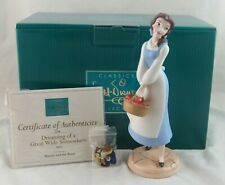 """WDCC """"Dreaming of a Great Wide Somewhere"""" Belle Beauty and the Beast Box COA Pin"""