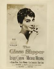 """THE GLASS SLIPPER""-ORIGINAL PHOTO-LESLIE CARON-ONE SHEET POSTER ART"