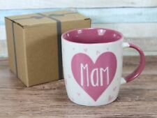 Welsh Mam Pink Hearts China Mug Mother Gift Box