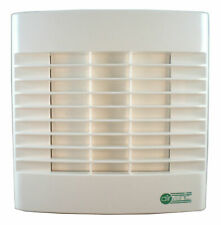 "Bathroom Extractor Fan 4"" 100mm - Timer & Automatic Shutters - Timed Overrun"