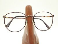 Vintage Marcolin 6168 264 Tortoise Metal Round Sunglasses Frames Italy
