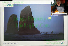 NITF Vintage NIKE Running Poster ☆ Moonrunner ☆ Cannon Beach ☆ Full Moon SIGNED