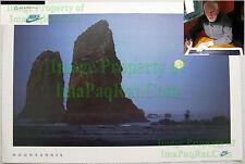NITF Vintage NIKE Running Poster ¤ Moonrunner ¤ Cannon Beach ¤ Full Moon SIGNED