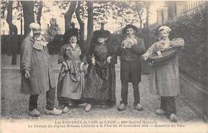 CPA 69 LES ENFANTS DE L'AIN DE LYON 300e SOCIETE MUTUELLE LE GROUPE DU JOYEUX BR