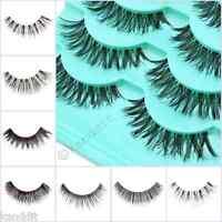 5Pairs Long Natural Thick Handmade Fake False Eyelashes Eye Lashes Also Mink
