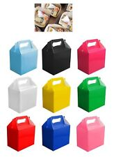 10 Plain Colour Lunch Food Boxes Children Kids Birthday Party Loot Bags Gifts