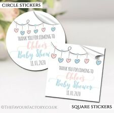 Personalised Baby Shower Stickers Birth Thank You Favours Envelope Seals 217