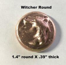 2+ oz Hand Poured Witcher Round - 999 Fine - Art Collectible Bullion