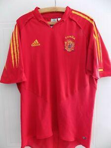 Spain Vintage Football Shirt 2003 2005 Original Adidas Espana Jersey Camiseta