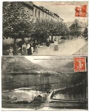 Ussat les Bains (09) 2 CP postées en 1917 et 1918.