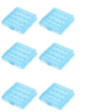 6 x Aufbewahrungsbox Transportbox für Mignon oder Micro Batterien/ Akkus BLAU