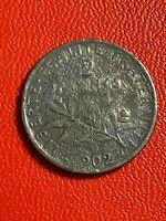 #5681- 2 francs 1902 Semeuse faux d'époque ? - FACTURE