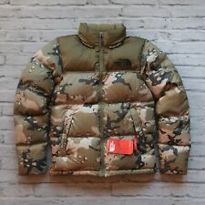New North Face Camo Nuptse Jacket Size XS Camouflage Novelty 700 Down