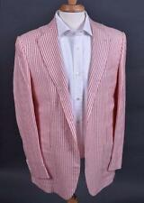 $8500 Kiton Red White Striped Dandy Sport Coat Jacket Cashmere Linen SIlk Vicuna