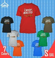 CANDY Wasted MAN TSHIRT Halloween Funny Tee Shirt Boo Halloween Costume Tees