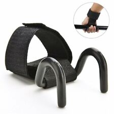 Strong Pro Weight Lifting Training Gym Hook Grip Strap Wrist Support Gloves SH1