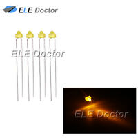 100pcs 1.8mm Diffused Yellow-Yellow Light LED Diodes DIP High Quality