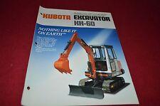 Kubota KH-60 Excavator Dealers Brochure DCPA2 ver2