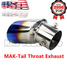 Tip Stainless Steel Pipe Chrome Exhaust Muffler Trim Modified Tail Throat Liner