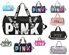 New Waterproof PINK Duffle Bag Yoga Holiday Gym Travel Handbag Shoulder Sequins