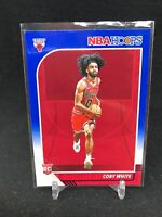 2019-20 Panini NBA Hoops #204 COBY WHITE Rookie Blue Parallel Chicago Bulls U97
