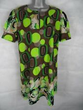 Tahe Lee Cotton Tunic Dress Size 14-16 60s Retro Print Summer Casual Work