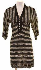 KAREN MILLEN Womens Overdress Size 1 XS Black Viscose  IK09