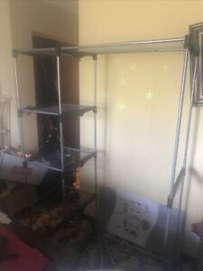 Whitmor Double Rod Closet Organizer - Freestanding - 5 Tier Storage Organizer