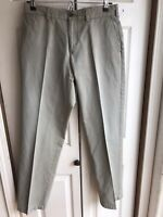 Men's Burberry London Classic Grey Pants Casual Chino Twill Designer Size 31