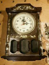 """Vintage Kitch Erlanger Plastic Case Battery Movement Novelty Mantel Clock 15""""H"""