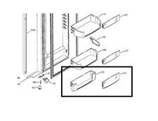 GE Arctica Refrigerator Fridge Shelf Insert Module Fixed WR71X10297 (AP3187188)