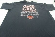 VTG 80s 1986 3D Emblem Harley Davidson Portland Maine Good Guys Wear Black Sz XL