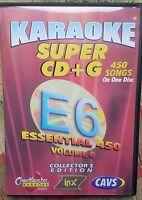 CHARTBUSTER ESSENTIALS KARAOKE SCDG E6, 450 SONGS, CAVS SUPER CD+G