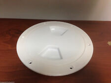 "MARINE BOAT KAYAK WHITE PLASTIC DECK PLATE 6""D WATERPROOF INSPECTION BAYONET"