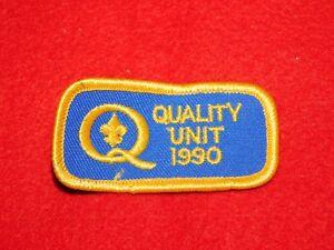 VINTAGE BSA BOY SCOUTS OF AMERICA PATCH QUALITY UNIT 1990