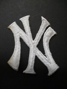 """New York Yankees NY Patch Size 1.5 x 2 inches """"NY"""" White Letters"""