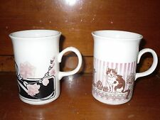 Churchill England Ceramic Coffee Mugs/Cups Cats Flowers