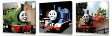 Thomas the tank engine Kids canvas wall art plaque pictures set of three pack I