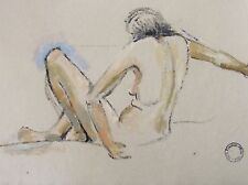 FRANKLIN WHITE - CONSTANCE NUDE - ORIGINAL PAINTING - C.1950 -  FREE SHIP IN US