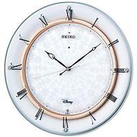 SEIKO Wall Clock Disney Mickey Mouse Analog Radio Wave White Pearl FS501W F/S