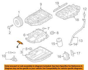 AUDI OEM 04-09 S4-Engine Oil Pan Gasket D176501A1